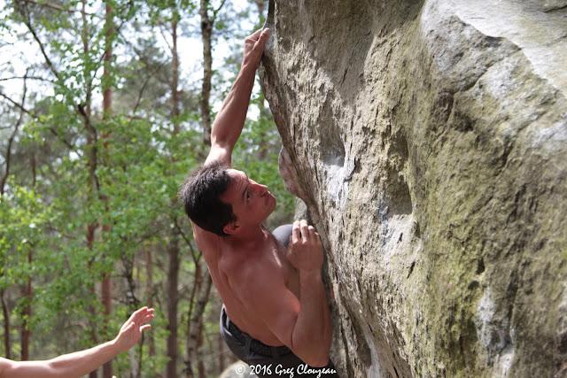 Ivan s'élance sur le bleu au Drei Zinnen (C) Greg Clouzeau