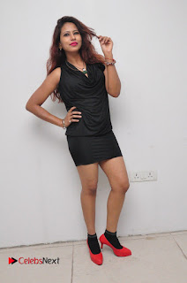 Model Sonia Pictures in Black Dress at Yes Mart Event  0033