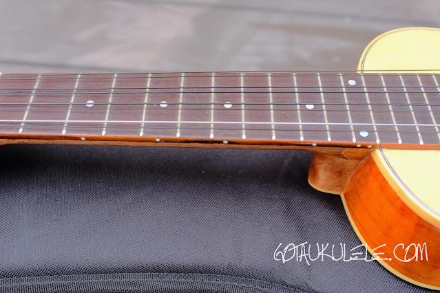 Noah 8 string concert ukulele neck