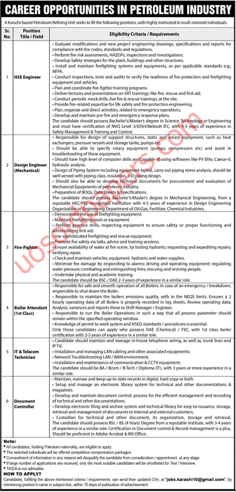 Express Newspaper Jobs on 11 August 2019 - UOS Past Papers