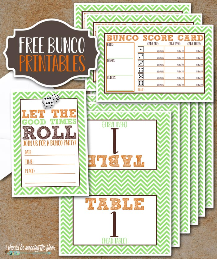 picture regarding Cute Bunco Score Sheets Printable named BUNCO Insert-Upon Pack of Printables