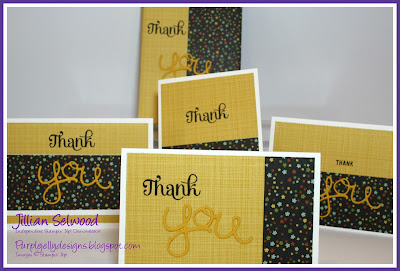 Hello you thinlit dies, Stampin'Up! DSP, Four you stamp set