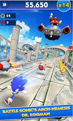 لعبة سونيك داش Sonic Dash v4.2.0 مهكرة