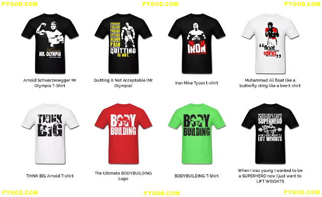 BODYBUILDING GYM T-SHIRTS.  PYGEAR.COM