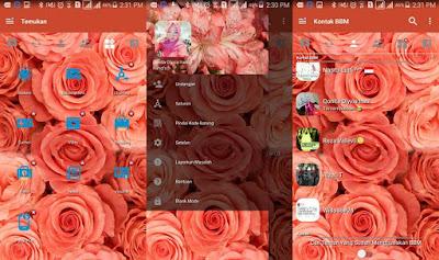 BBM Mod Pink Flowers Themes V3.2.0.6 Apk