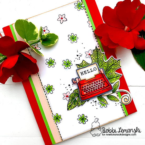 Hello by Bobbi features Loads of Blooms, My Type, and Beautiful Laves by Newton's Nook Designs; #newtonsnook