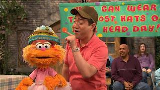 Zoe, Alan, Gordon, Sesame Street Episode 4312 Elmo and Zoe's Hat Contest season 43