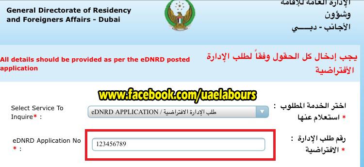 UAE visit Visa status online