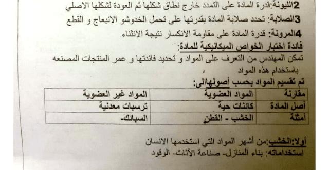 ملخص درس المادة وخواصها علوم
