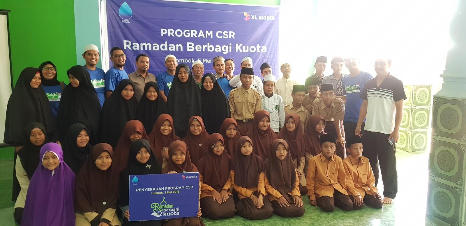Xl Axiata Salurkan Donasi Kuota Ke Lembaga Pendidikan Islam Kabar Kolektif Untuk Lombok Pt Tbk Mulai Menyalurkan Dalam Rangka Program Ramadan Berbagi