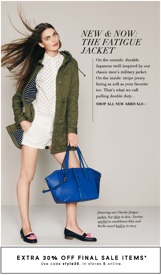 e6f63d5cede98 J.Crew Aficionada  J.Crew s Coat of the Season  The Fatigue Jacket ...