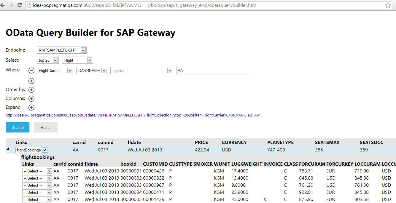 Netweaver Gateway Services: oData Query Builder - A Prototype