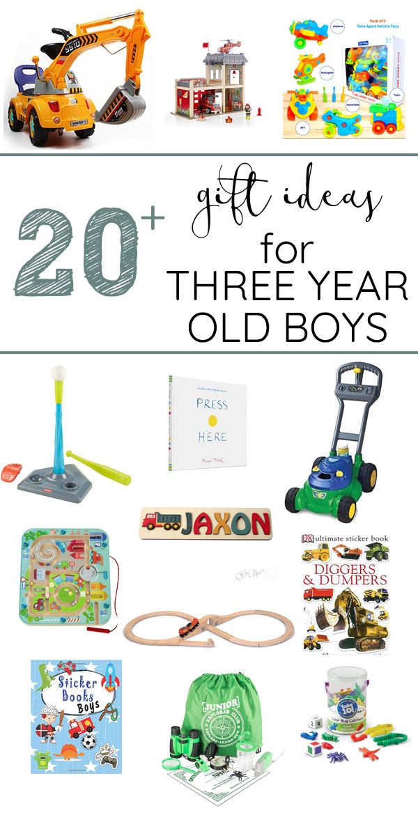 Gift ideas for 3 year old boys | The Inspired Hive