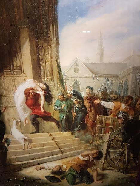 Quasimodo sauve Esmeralda par Eugénie Henry (c) Maison de Victor Hugo / Roger  Viollet