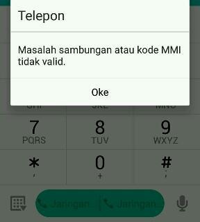 masalah sambungan kode mmi tidak valid android
