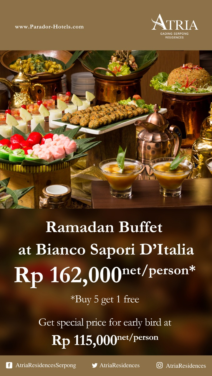 Paket Buka Puasa Di Hotel Jakarta 2019 : paket, puasa, hotel, jakarta, Berbuka, Puasa, Bersama, Keluarga, Atria, Residences, Gading, Serpong, AKUCHICHIE