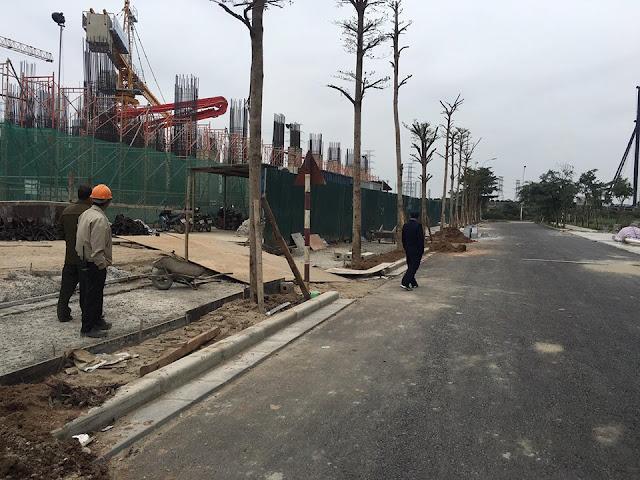Cảnh quan dự án Tứ Hiệp Plaza, nằm trong khu đô thị Hồng Hà Eco City