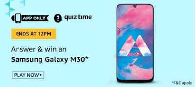 Samsung Galaxy M30 Quiz Answers