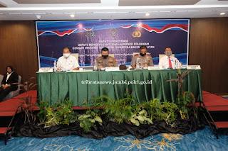 Wakapolda Jambi Buka Rakor Antar Instansi Penegak Hukum dan Pemerintah Se Sumatera Bagian Selatan