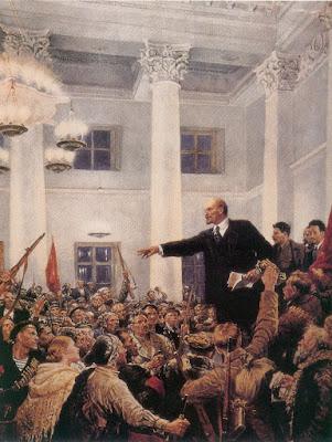Рисунок. В.А.Серов. Ленин провозглашает советскую власть на 2-м съезде Советов
