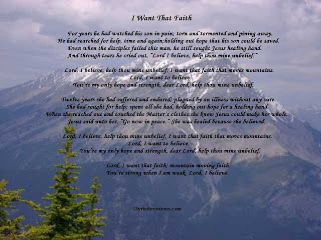 mountain, evergreen trees, song lyrics