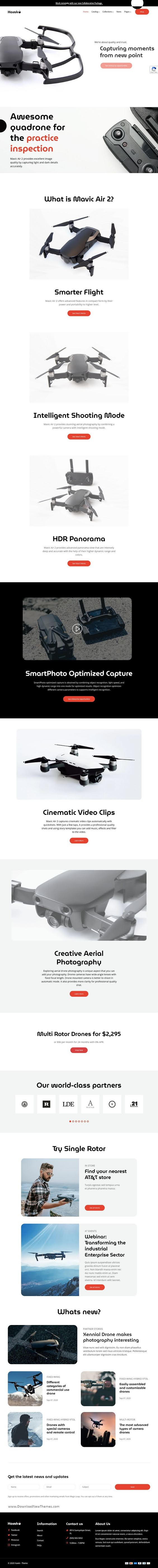 Drone Single Product eCommerce Shopify Theme