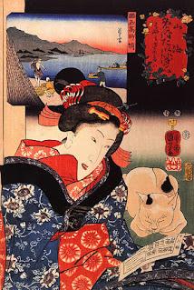 Utagawa Kuniyoshi  (1798–1861) Moteris.