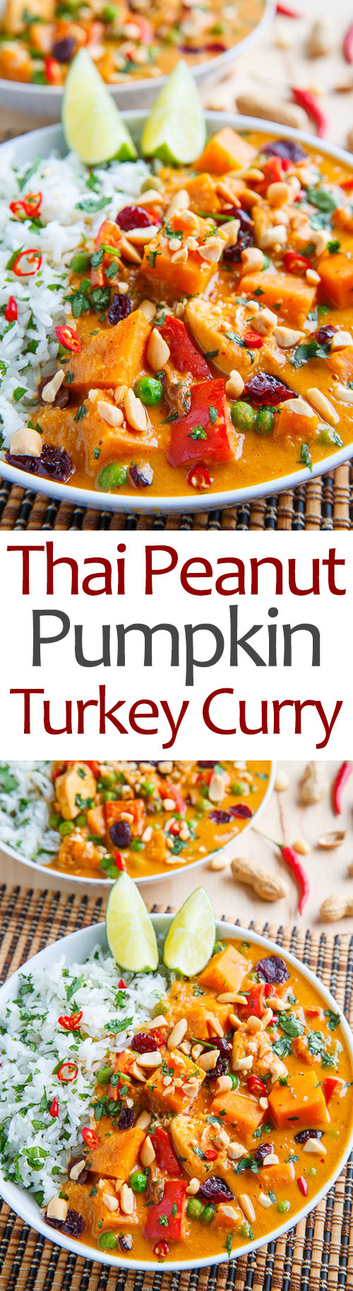 Thai Peanut Pumpkin Turkey Curry