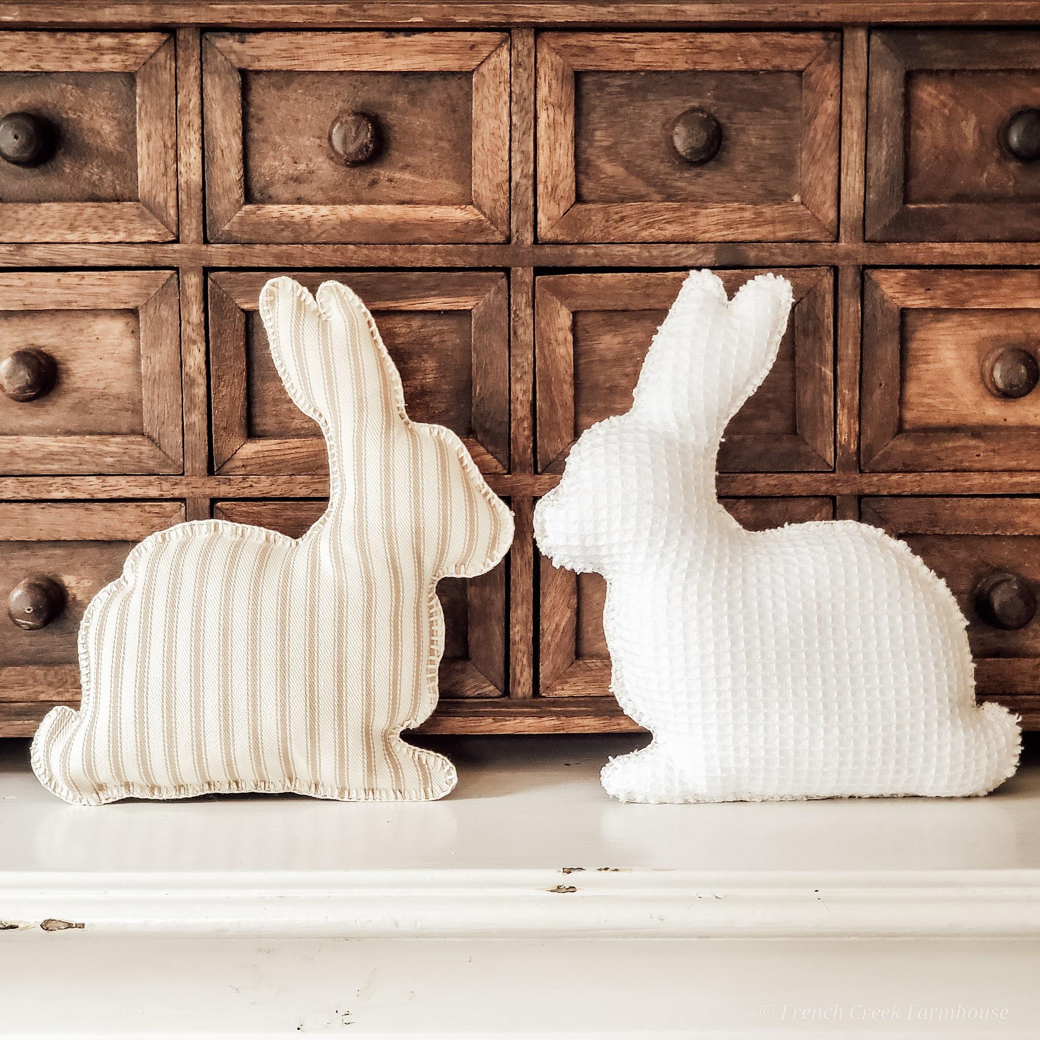 How to Make Farmhouse Fabric Bunnies