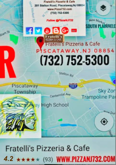Fratelli's Pizzeria & Cafe, Piscataway,NJ 08854