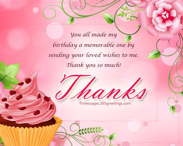 Many Many Thanks for the Birthday Wishes!