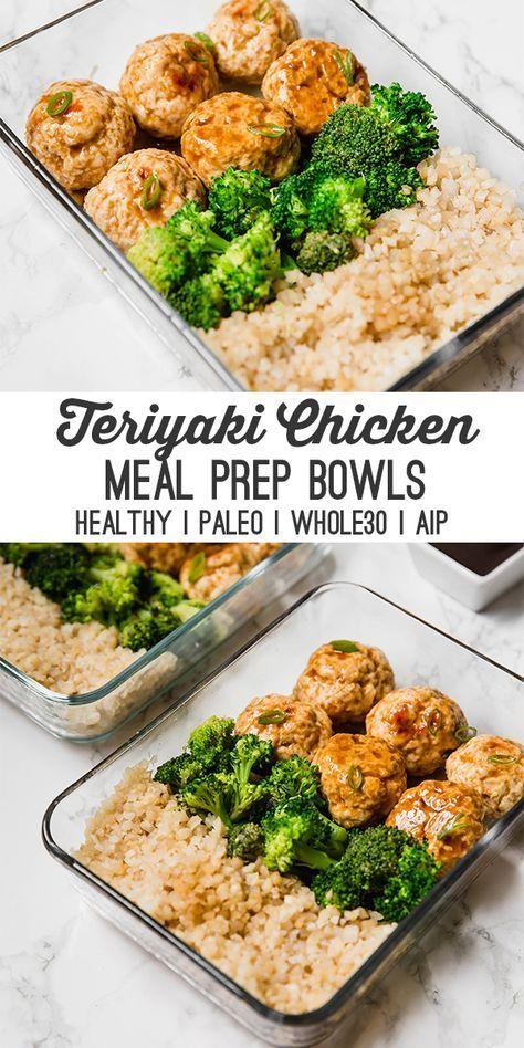 Teriyaki Chicken Meatball Meal Prep (Paleo, Whole30, AIP) #recipes #dinnerrecipes #dinnermeals #dinnermealstocook #food #foodporn #healthy #yummy #instafood #foodie #delicious #dinner #breakfast #dessert #lunch #vegan #cake #eatclean #homemade #diet #healthyfood #cleaneating #foodstagram