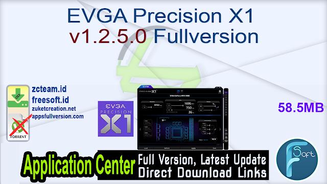 EVGA Precision X1 v1.2.5.0 Fullversion