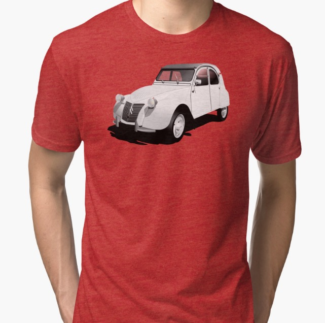 Citroën 2CV t-shirts