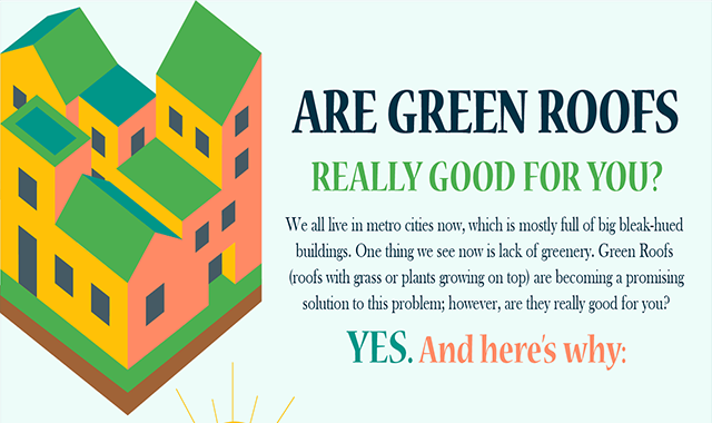 Are Green Roofs Really Good for You? #infographics