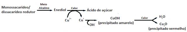 reduçao ion cuprico pelo açucar redutor