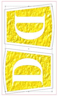 textura em placas
