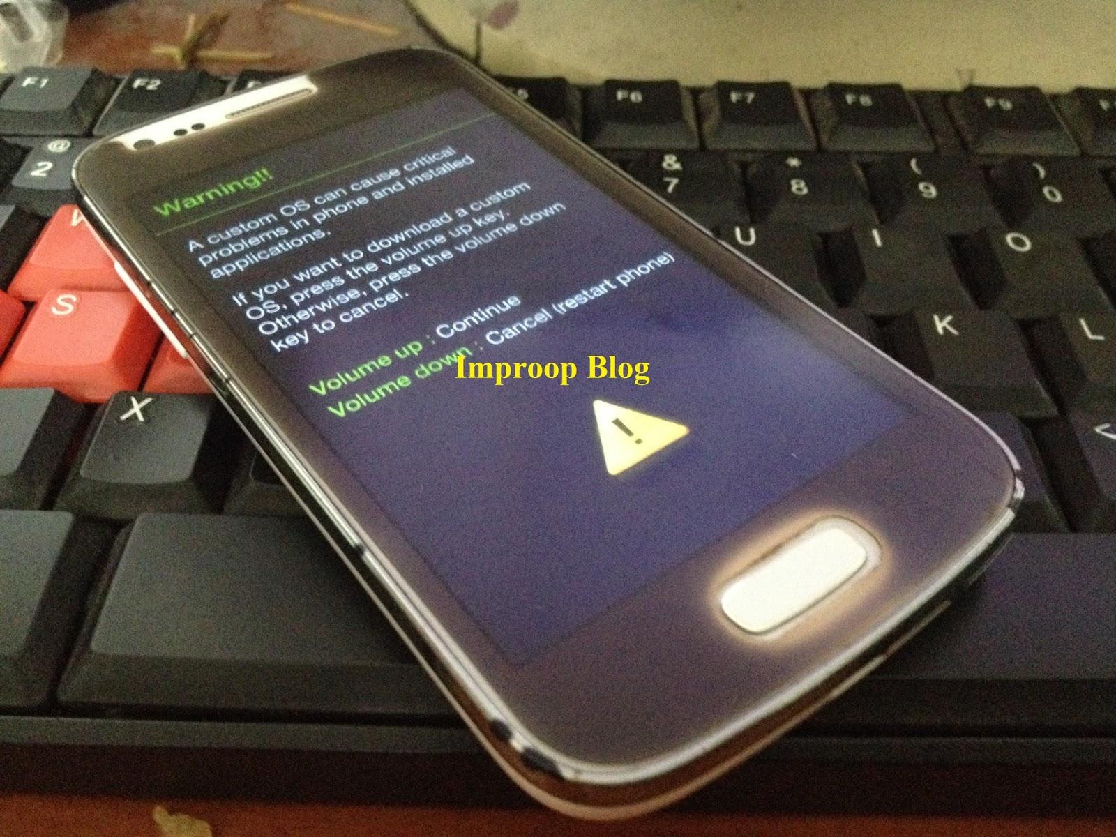Nyalakan smartphone Samsung ace 3 s7270 dan masuk ke mode Untuk caranya brosis hanya menekan 3 tombol yaitu tombol home volume down dan tombol