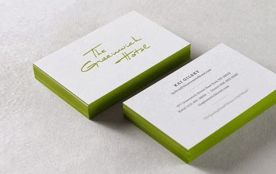White And Clean Business Card Designs