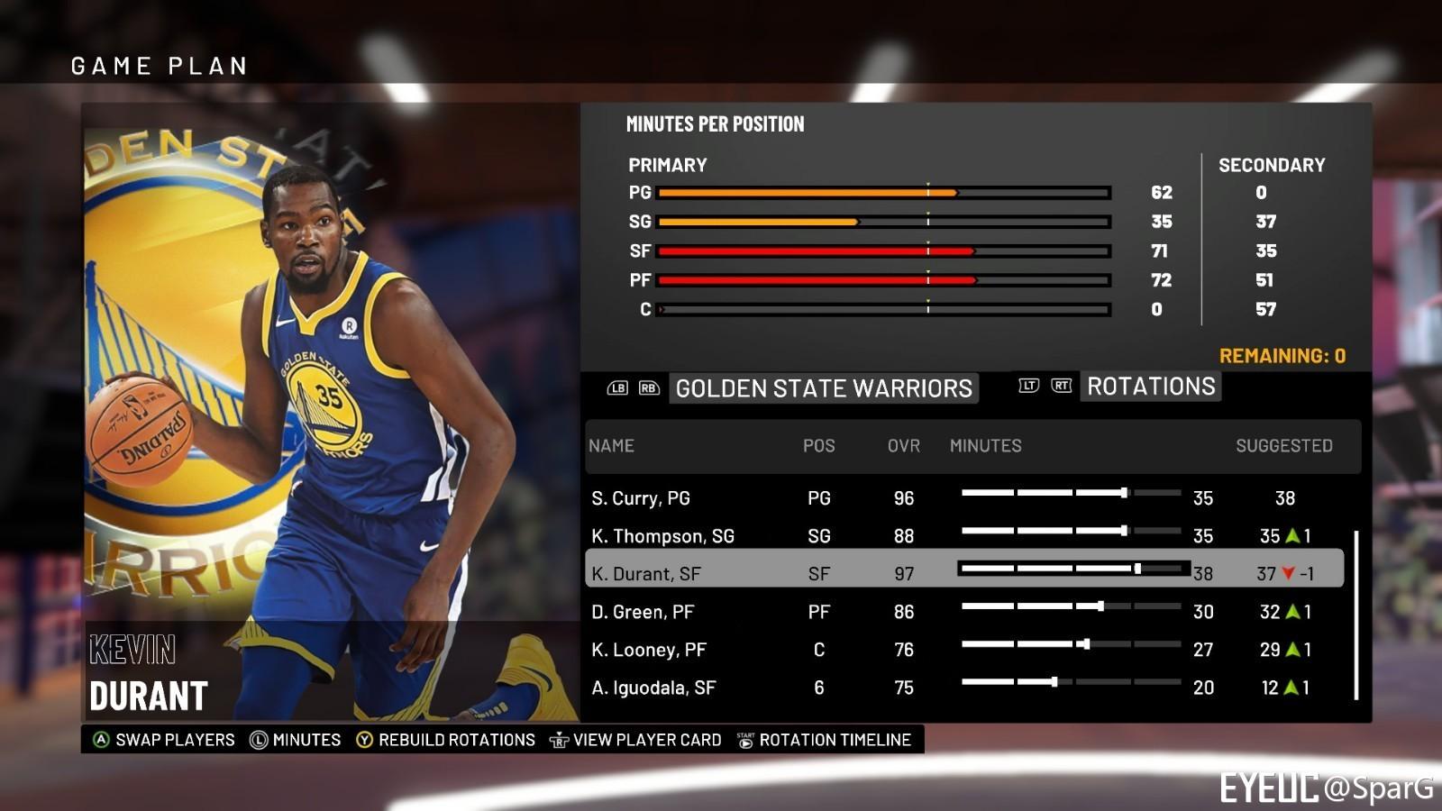 1db4d1613057 NBA 2K19 - Kevin Durant Portrait Update - Shuajota