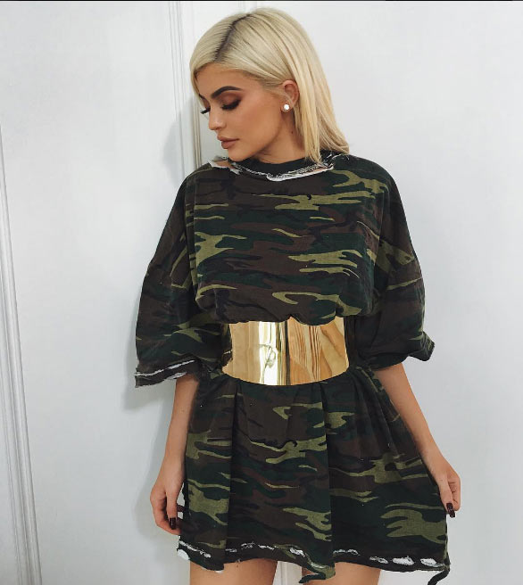 Sexy or trashy? Kylie Jenner rocks military camouflage outfit