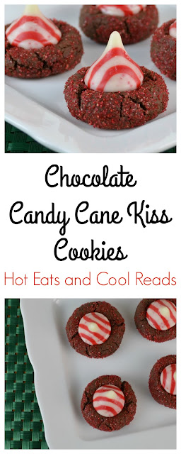 These cookies are full of chocolate and peppermint goodness! Great for any Christmas cookie exchange! Chocolate Candy Cane Kiss Cookies Recipe from Hot Eats and Cool Reads