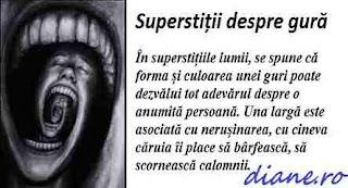Superstiții despre gură