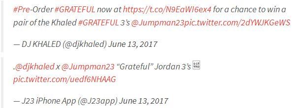 "DJ Khaled-Debuts ""Grateful"" Air Jordan 3 Collab"