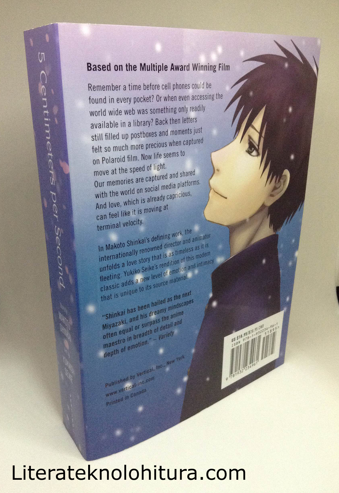 5 centimeters per second manga back cover