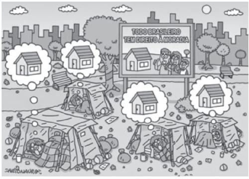 Qual problema social é evidenciado na imagem
