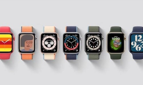 Apple Watch has a flat side and a larger screen