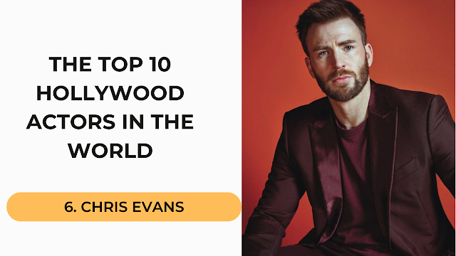 Chris Evans Top 10 Hollywood Actors in the World