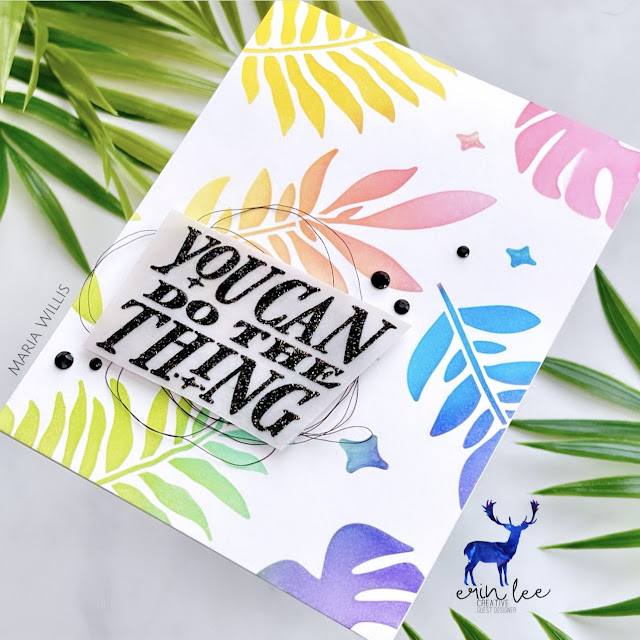 Cardbomb, Maria Willis, Erin Lee Creative, stamps, stamping, cards, cardmaking, handmade, ink, paper, paper craft, crafting, art, color, diy, ink blending, Tonic Studios, Hero Arts