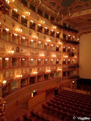 Particolare della Sala Teatrale della Fenice di Venezia